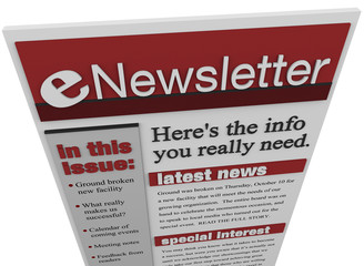 eNewsletter Issue Email Information Articles Update
