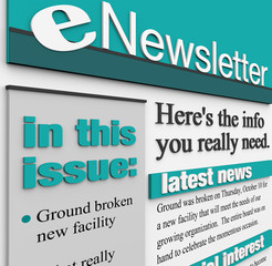 eNewsletter Alert Issue Email Delivering News Updates
