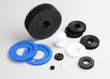 Plastic gears wheel the spare parts in the engine machine