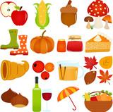 Cute Vector Icons : Autumn / Fall Theme