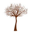 stylized tree and place for text, vector