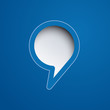 Cover speech in blue background # Vector