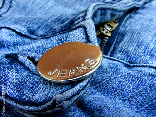 blue denim fragment with button