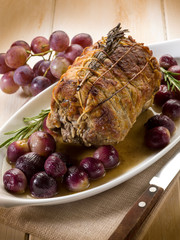 meat roasted with grape