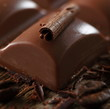 Stück Schokolade - Makro