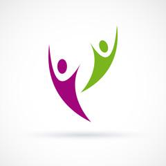 Logo happy people # Vector