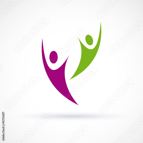 Logo happy people # Vector