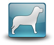 "Light Blue 3D Effect Icon ""Dog / K9 / Canine"""
