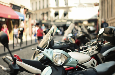Mopeds in Paris