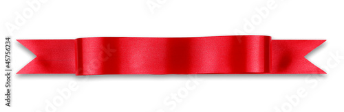 Fotobehang Stof Red ribbon banner
