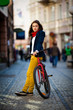 Girl biking