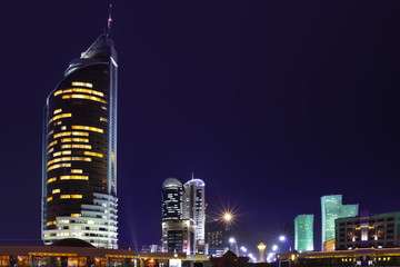 the downtown of Kazakhstan capital