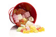 candy for the sint party in red bucket