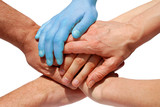 many hands symbolizing power, acceptance, tolerance, equality poster