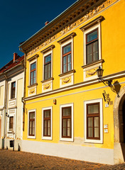 Nice houses in the old town of the city