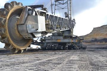Schaufelradbagger im Tagebau