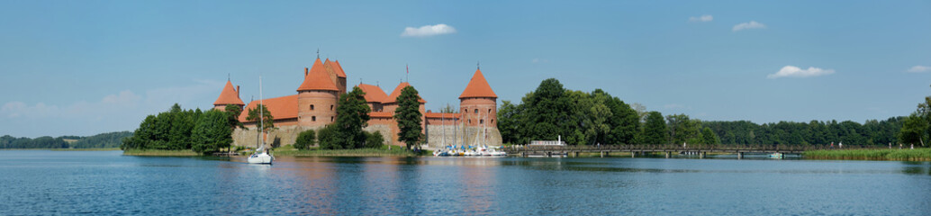 Panorama of Trakai castle