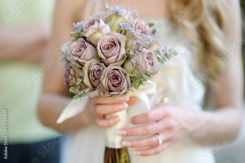 Bride holding a wedding bouquet