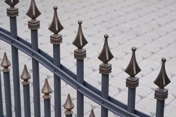 Zaun mit Verzierung