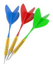 Set of darts. Isolated on White.
