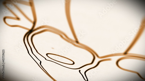 Human Heart structure animation illustration  Shallow Depth of F