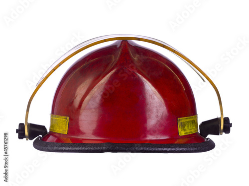 red fireman helmet