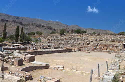 Ancient palace of Zakros at Crete island in Greece