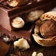 Schokolade mit Mandeln - Makro