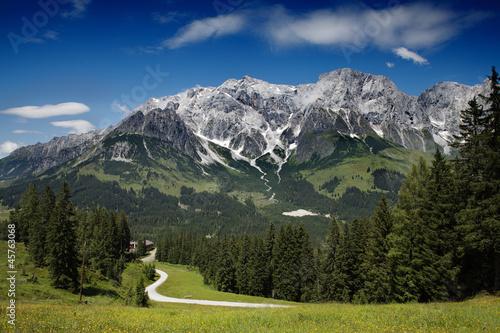 Hochkönig Bergmassiv bei Mühlbach © Nailia Schwarz