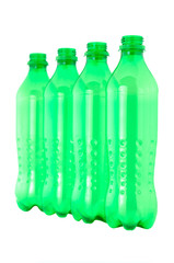 used plastic green bottles