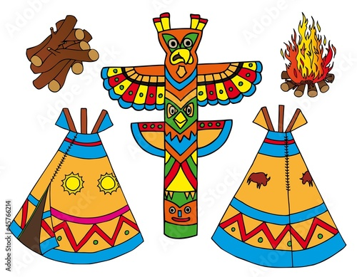 Papiers peints Indiens Indians tepees collection