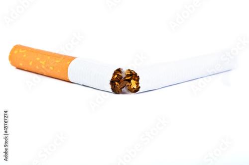 Zigarette zerbrechen