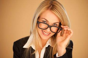 Attractive professional woman in glasses
