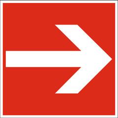 Brandschutzzeichen - Richtungsangabe