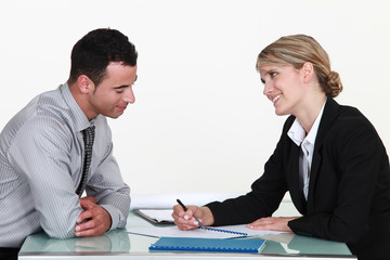 Recruiter and applicant