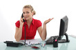 Secretary talking on the phone