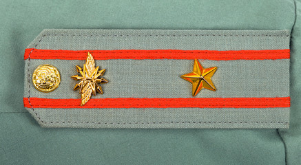 Shoulder strap of russian army officer - major