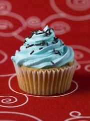 One blue Cupcake