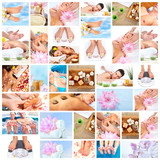 Fototapety Beautiful Spa massage collage.