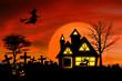 Haunted mansion with Jack O Lantern