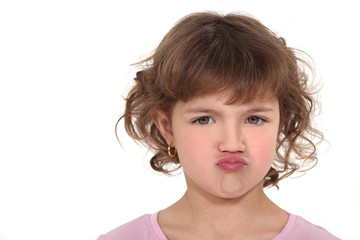 Pouting little girl