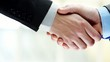 Businessmen handshake two men shaking hands