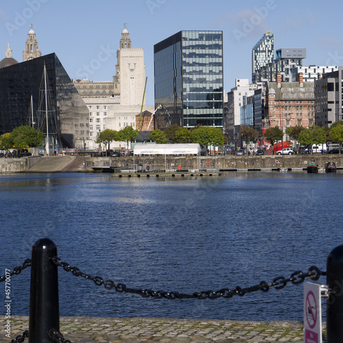 Liverpool Docklands Skyline England