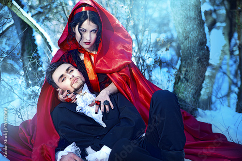 Little Red Riding Hood fell in love with a wolf