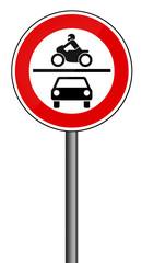 Verbotsschild RAL 3001 signalrot - Kraftverkehr