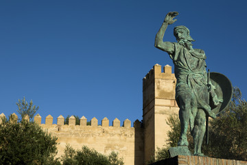 Statue of Ibn Marwan 6. Founder of Badajoz