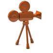 Orange film camera icon