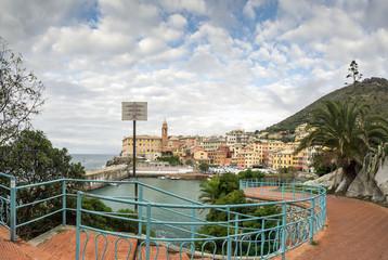 passeggiata di Nervi, piccola città vicino a Genova, Italia