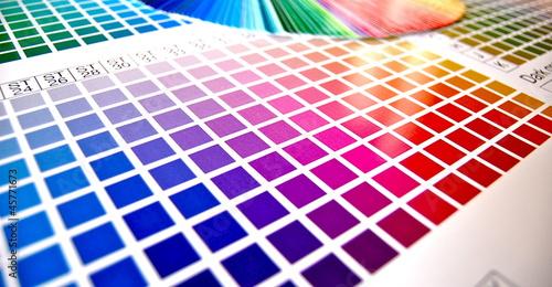 Leinwandbild Motiv Farbpalette digitaldruck CMYK