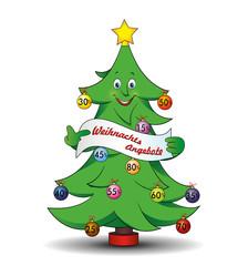"""Tannenbaum """"Weihnachts-Angebote mit Prozente"""""""
